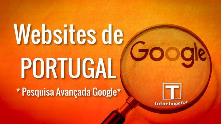 Pesquisas - obter websites de Portugal APENAS