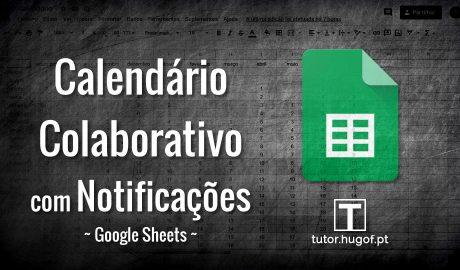 google sheets calendário colaborativo com notificações